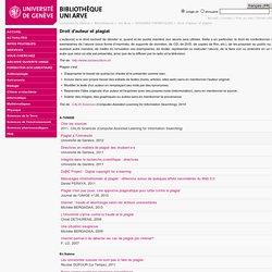 Droit d'auteur et plagiat - Bibliothèque - Uni Arve