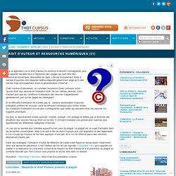 Droit d'auteur et ressources numériques