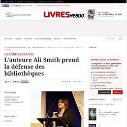 L'auteure Ali Smith prend la défense des bibliothèques