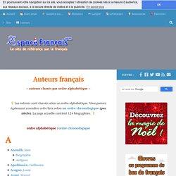 Auteurs français (ordre alphabétique)