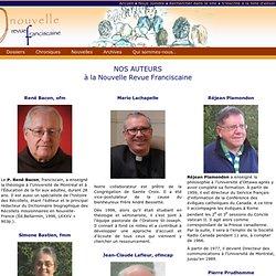 Les auteurs de la Nouvelle Revue Franciscaine