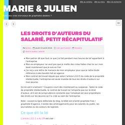 Les droits d'auteurs du salarié, petit récapitulatif - MARIE & JULIEN