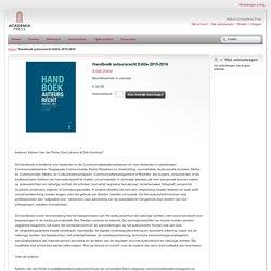 Handboek auteursrecht. Editie 2015-2016.