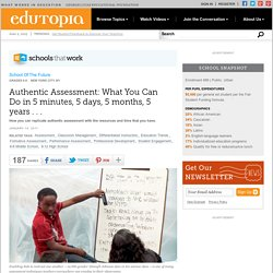 Authentic Assessment: What You Can Do in 5 minutes, 5 days, 5 months, 5 years . . .