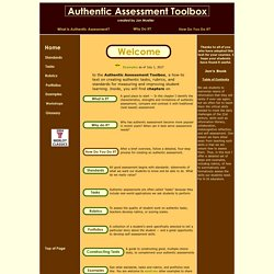 Authentic Assessment Toolbox Home Page