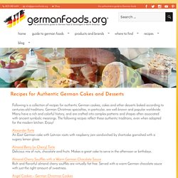Recipes for Authentic German Cakes and Desserts - Germanfoods.org