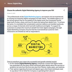 Choose the authentic Digital Marketing Agency to improve your ROI
