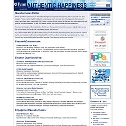 Authentic Happiness Inventory Questionnaire