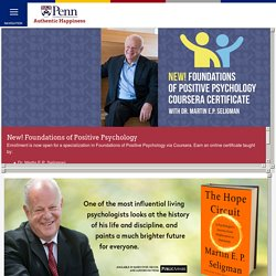 :: Authentic Happiness :: Using the new Positive Psychology
