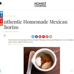 Authentic Homemade Mexican Chorizo – Honest Cooking