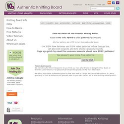 Authentic Knitting board - Adjustable Knitting Boards, patterns,