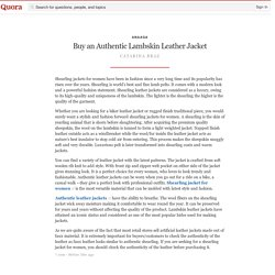 Buy an Authentic Lambskin Leather Jacket