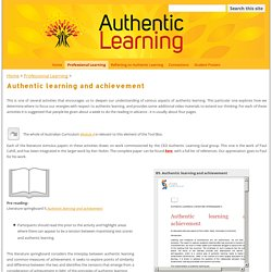Authentic learning and achievement - Authentic Learning Tool Box