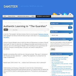 "Authentic Learning in ""The Guardian"""