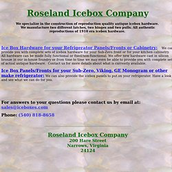 Roseland Icebox Company - Authentic Electric Wooden Refrigerators