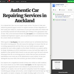 Authentic Car Repairing Services in Auckland