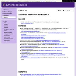 authentic-resources - FRENCH