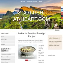 Authentic Scottish Porridge Recipe