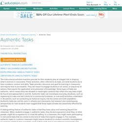 Authentic Tasks