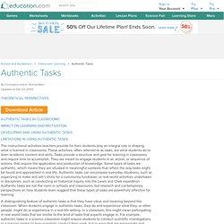 Authentic Tasks