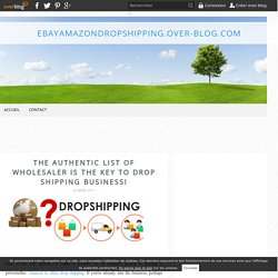 The Authentic List Of Wholesaler Is The Key To Drop Shipping Business!