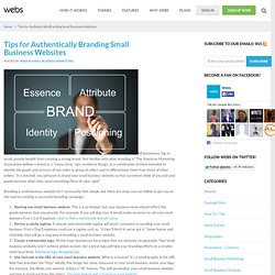 Tips for Authentically Branding Small Business Websites