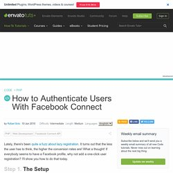 How to Authenticate Users With Facebook Connect