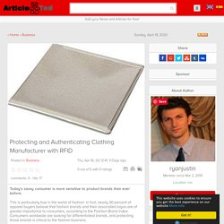 Protecting and Authenticating Clothing Manufacturer with RFID