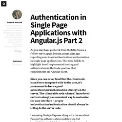 Authentication in Single Page Applications with Angular.js Part 2