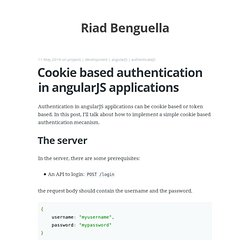 Cookie based authentication in angularJS applications