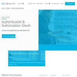 Authentication & Authorization: OAuth