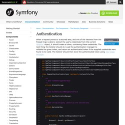 Authentication (The Security Component - Symfony)