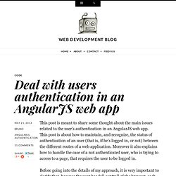 Deal with users authentication in an AngularJS web app