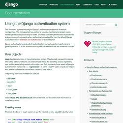 Using the Django authentication system