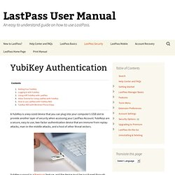 YubiKey Authentication « LastPass User Manual