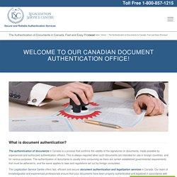 Document Authentication - Legalization Service Centre