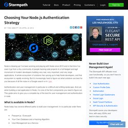 Choosing your Node.js Authentication Strategy