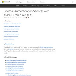 External Authentication Services with ASP.NET Web API (C#)