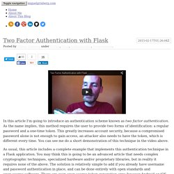Two Factor Authentication with Flask - miguelgrinberg.com