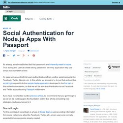 Social Authentication for Node.js Apps With Passport