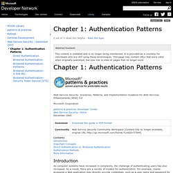Chapter 1: Authentication Patterns