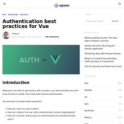 Authentication best practices for Vue - Sqreen Blog
