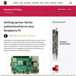 Setting up two-factor authentication on your Raspberry Pi