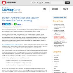 Student Authentication and Security Concerns for Online Learning » The Online Learning Curve