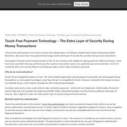 Touch-Free Payment Authentication - The Extra Layer of Security