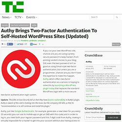 Authy Brings Two-Factor Authentication To Self-Hosted WordPress Sites (Updated)