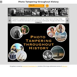 Photo Forensics Software | Fourandsix Technologies - Photo Tampering throughout History