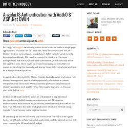 AngularJS Authentication with Auth0 & ASP .Net OWIN - Bit of Technology