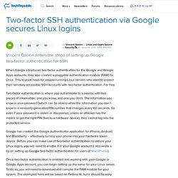 Two-factor SSH authentication via Google secures Linux logins