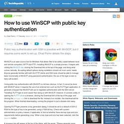 How to use WinSCP with public key authentication